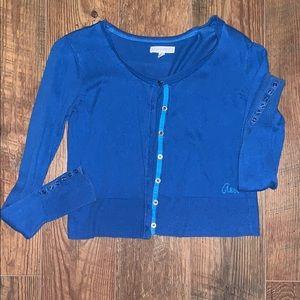Royal Blue Long Sleeve Cardigan